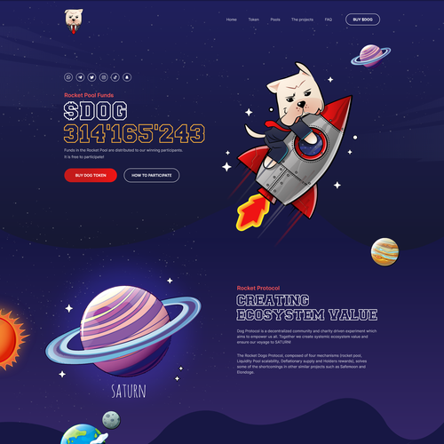 Bitcoin website with the title 'New Cryptocurrency landing page'