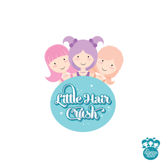 Sister logo with the title 'Pastel logo for a hair accessories company'