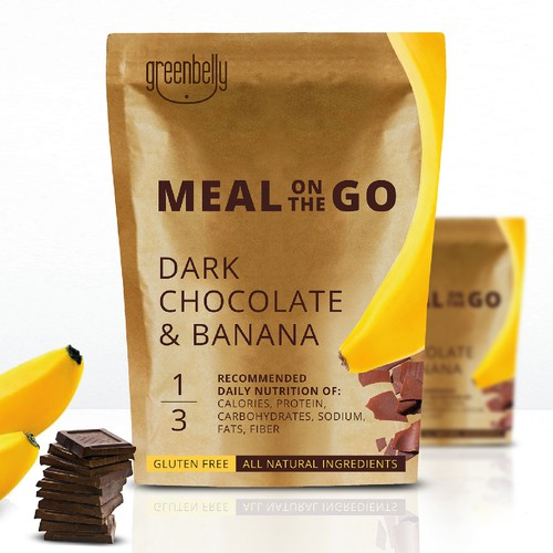 Gluten-free packaging with the title 'Meal On The Go'
