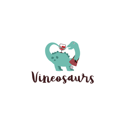 Art design with the title 'Vineosaurs'