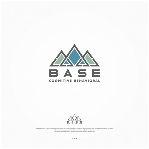 Balanced logo with the title 'Find Your BASE- New psychology practice needs unique logo to stand out from the crowd'