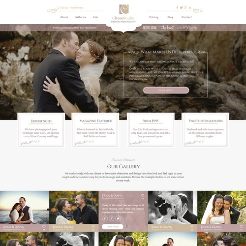 Photography website with the title 'Choco Studio'