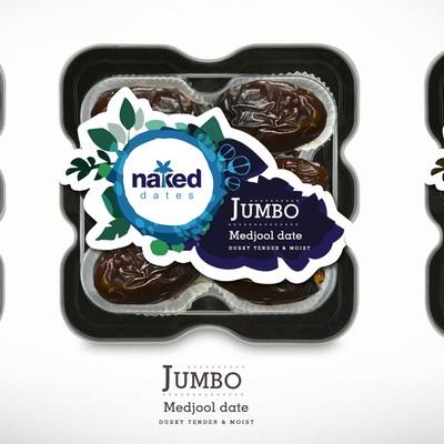 Naked Dates Packaging design