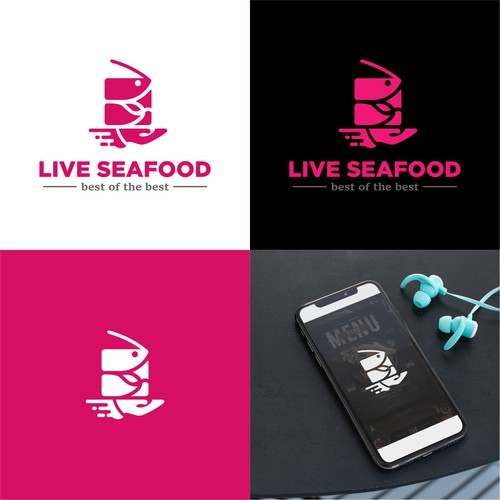 Master design with the title 'Logo for Seafood delivery service'