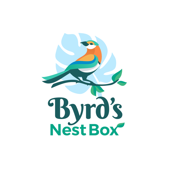 Startup logo with the title 'Byrd's Nest Box'