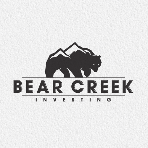 Creek design with the title 'Bear logo'