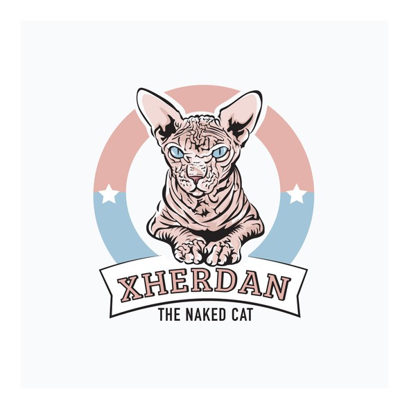 Distinctive logo with the title 'The Naked Cat Logo'