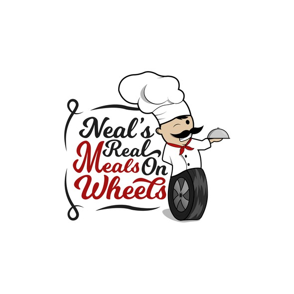 Meal logo with the title 'Neals's Reals Meals on Wheels'