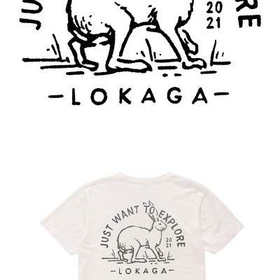 Vintage badge for LOKAGA tshirt design