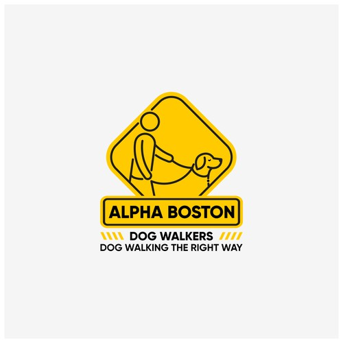 Personal training logo with the title 'Alpha Boston Dog Walkers'