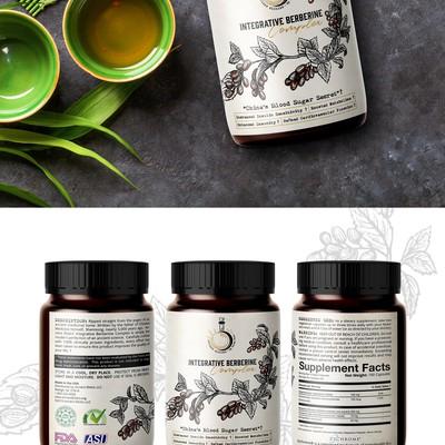 Ancient Elixirs Herbal Supplement Logo & Label Design