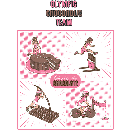 Cocoa design with the title 'Olympc Chocoholic Team Tank'