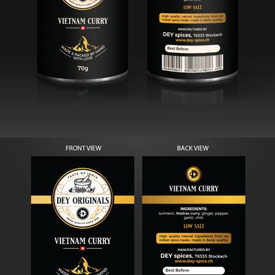 DEY Originals Label Design