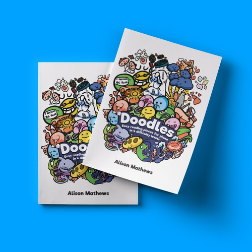 Colorful book cover with the title 'Doodles - Cover Design [Full Color]'