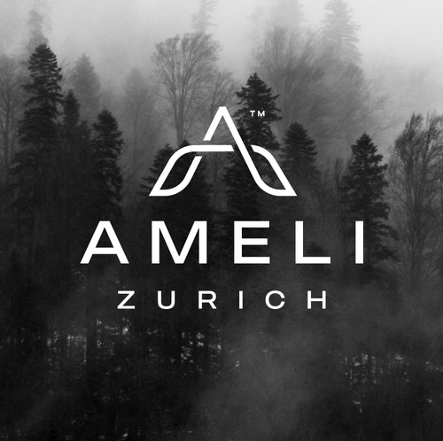 Letter A logo with the title 'Ameli Zurich'
