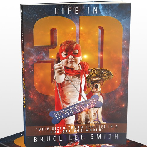 Dog book cover with the title 'Life in 3D Book Cover'