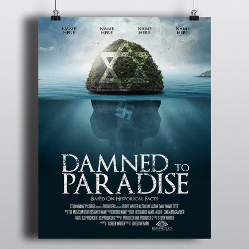 Island design with the title 'Movie-Poster for Caribbean film production'