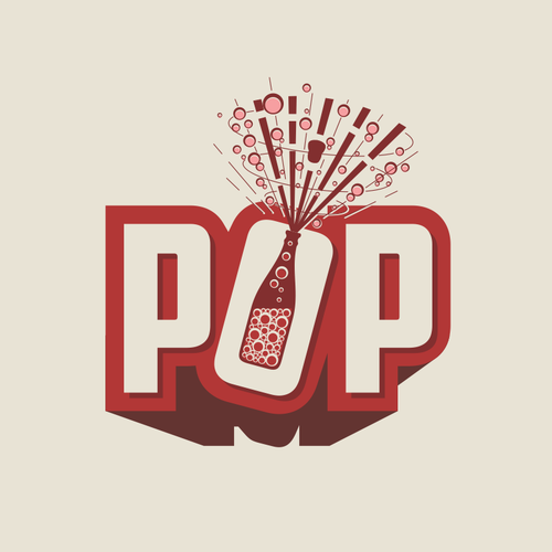 Celebration design with the title 'POP Logo'