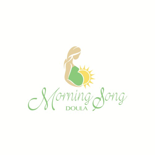 Birth design with the title 'Natural, feminine logo design for doula'