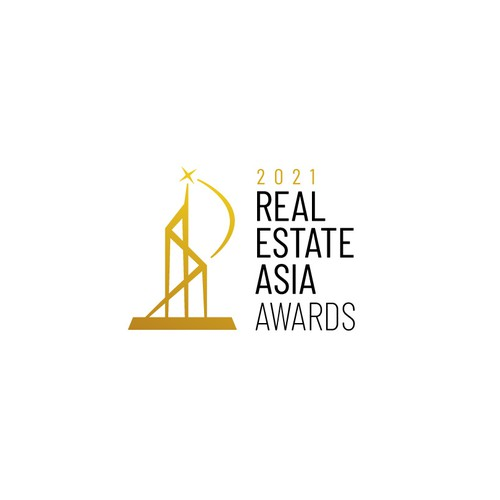 Achievement logo with the title 'Logo for Real Estate Asia Awards'