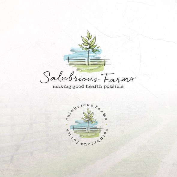 Milk brand with the title 'Logo Concept For Salubrious Farms'