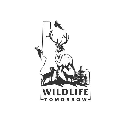 Environmental design with the title 'Wildlife Tomorrow'