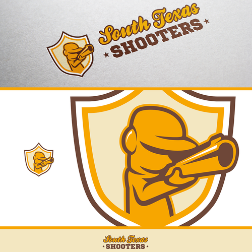 Cap design with the title 'Logo for Shooting Club'