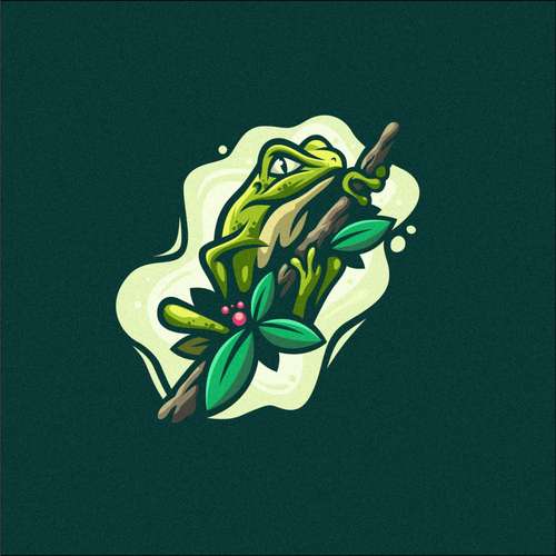 Frog logo with the title 'Frog logo'