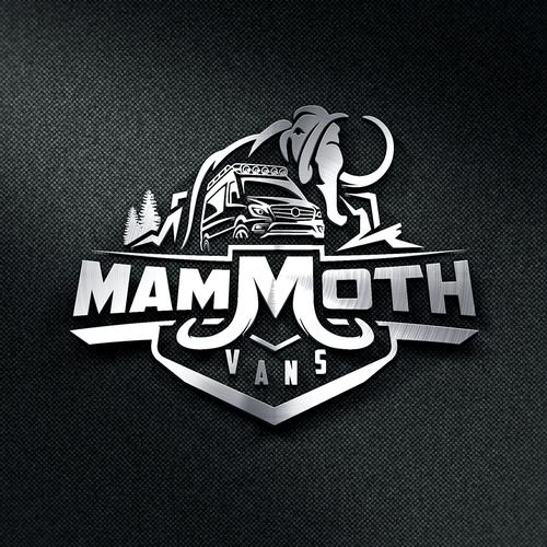 Van design with the title 'Mammoth Vans'