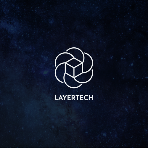 Sacred geometry design with the title 'Layertech logo'