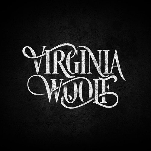 Simple font logo with the title 'VIRGINIA WOOLF DESIGN PROPOSAL'