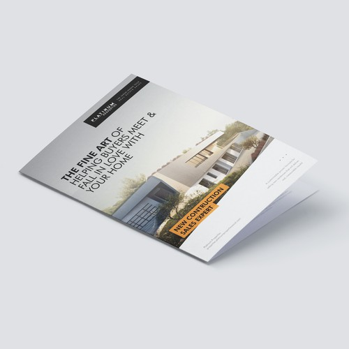 Orange and black design with the title 'Platinum - Brochure Design'