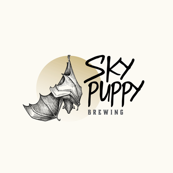 Beer brand with the title 'Visual Identity for Sky Puppy Brewing'