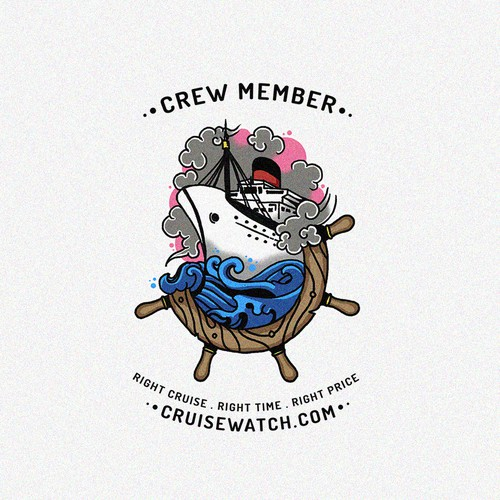 Team t-shirt with the title 'Team Member Polo Shirt for Cruise Vacation'
