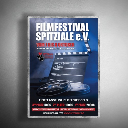 Film reel design with the title 'Poster for film festival'