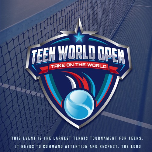 Tournament design with the title 'TEEN WORLD OPEN'