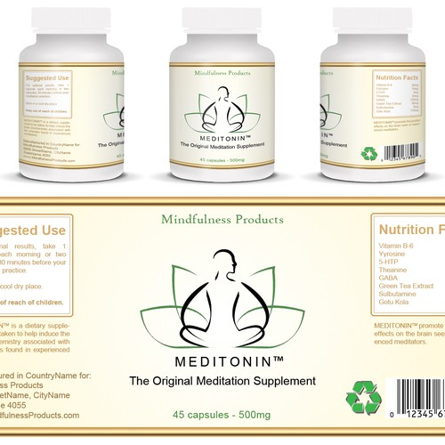 Pharmacy label with the title 'Mindfulness Products'
