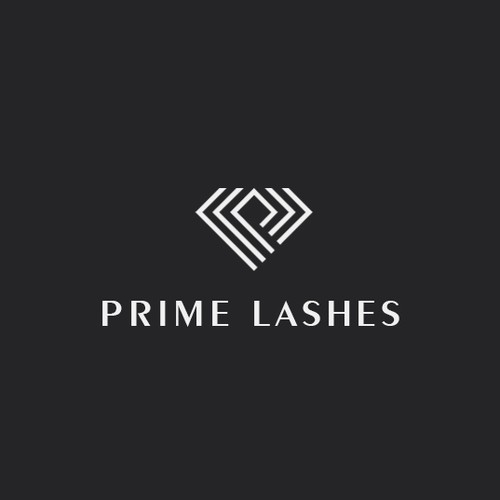 Eyelash logo with the title 'Logo for Prime Lashes'