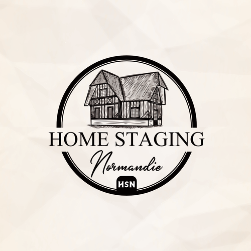 Traditional brand with the title 'Typical traditional Normandy house'