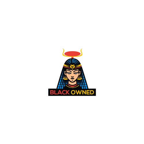Egyptian logo with the title 'BLACK OWNED'