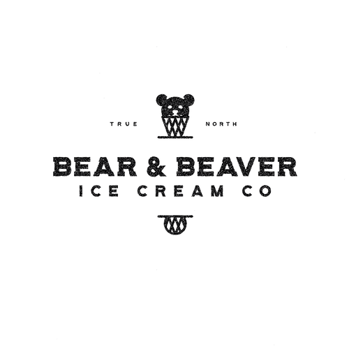 Beaver logo with the title 'Canadian ice cream'