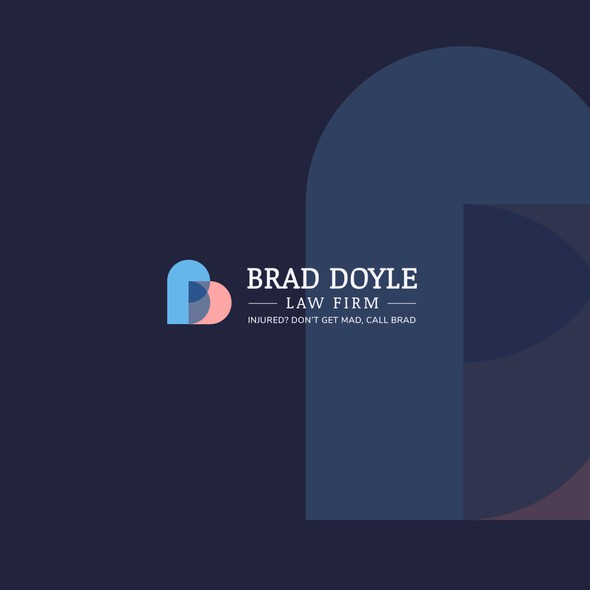 Transparent design with the title 'BD monogram concept'