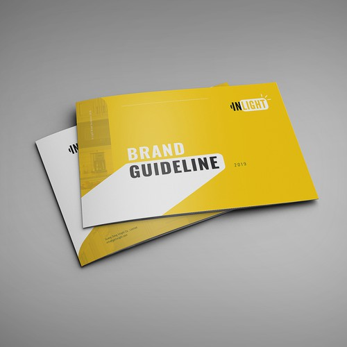 Lighting design with the title 'Brand Guide for Lighting Business'