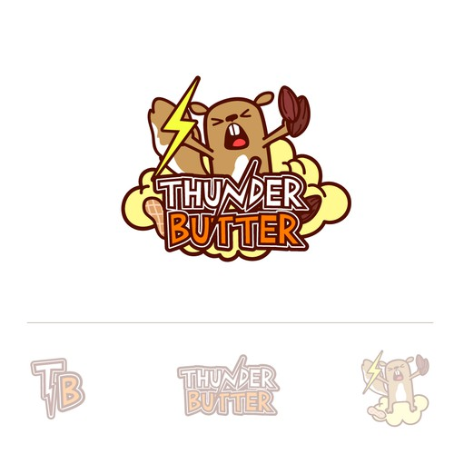 Squirrel logo with the title 'Logo for Thunder Butter nut butters'