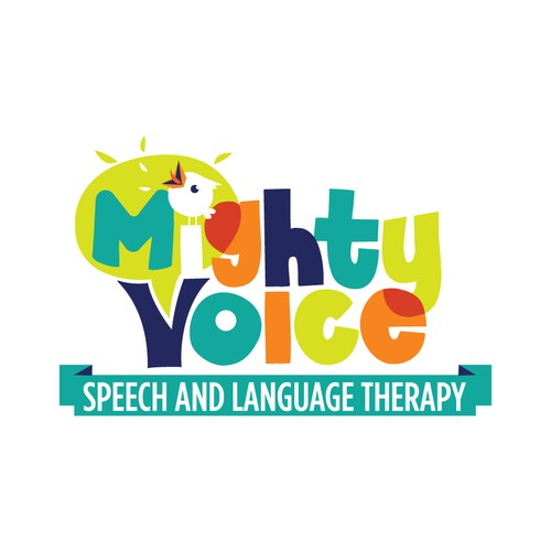 Therapy logo with the title 'Colorful speech therapy logo'