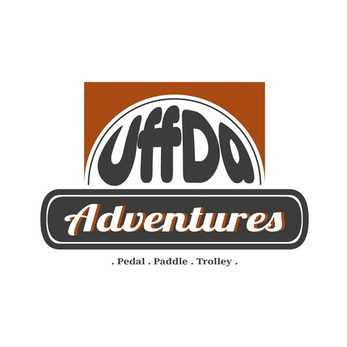 Paddle logo with the title 'Logo for Adventure Company'