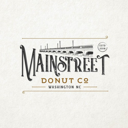 Donut logo with the title 'Mainstreet Donut Co.'