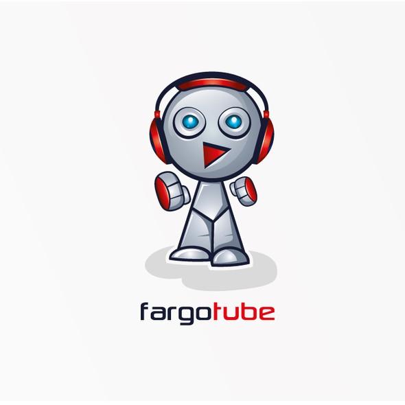 Tube design with the title 'FargoTube Robot Logo'