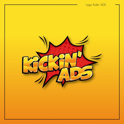 Red and yellow logo with the title 'Kickin' ADS'