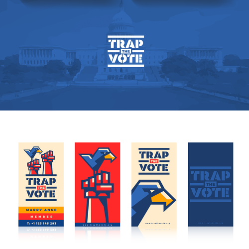 Contemporary brand with the title 'trap the vote'